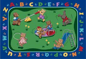 Teddy Bear Playground Area Rug
