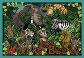 Wild About Books Area Rug