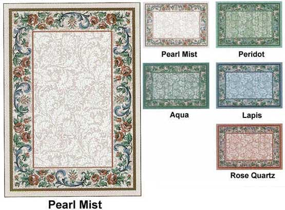 Milliken Area Rugs Innovation Collection Rose  Damask