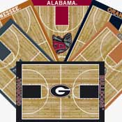 College Basketball Area Rugs