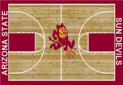 Arizona State University 1014 Basketball Rug