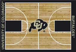 University of Colorado Basketball Sports Rug