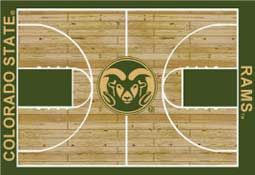 Colorado State University Basketball Sports Rug