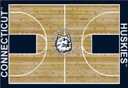 University of Connecticut Basketball Sports Rug