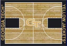 Georgia Tech Basketball Sports Rug