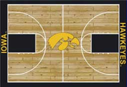 University of Iowa Basketball Sports Rug