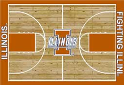 University of Illinois Basketball Sports Rug