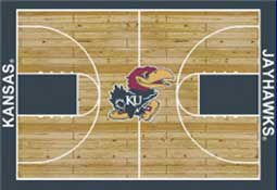 University of Kansas Basketball Sports Rug