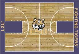 Louisiana State University Basketball Sports Rug