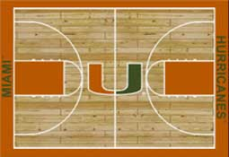 University of Miami Basketball Sports Rug