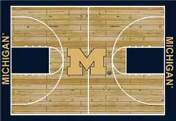 University of Michigan Basketball Sports Rug