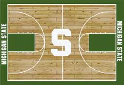 Michigan State University Basketball Sports Rug