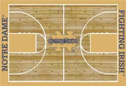University of Notre Dame Basketball Sports Rug