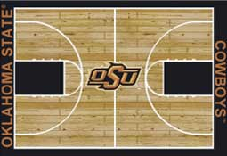 Oklahoma State University Basketball Sports Rug