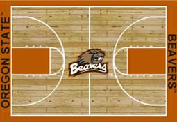 Oregon State University Basketball Sports Rug