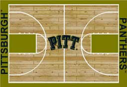 University Pittsburgh Basketball Sports Rug