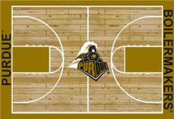 University of Purdue Basketball Sports Rug