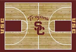 University of Southern California Basketball Sports Rug