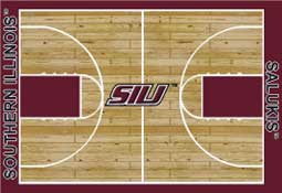 Southern Illinois University Basketball Sports Rug