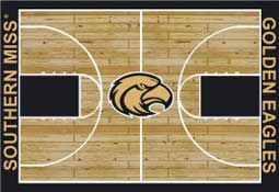 University of Southern Mississippi Basketball Sports Rug