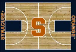 Syracuse University Basketball Sports Rug