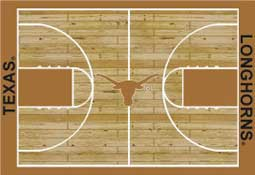 University of Texas Basketball Sports Rug