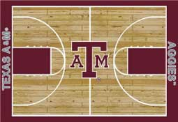 Texas A&M University Basketball Sports Rug