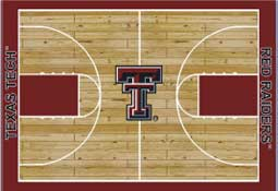 Texas Tech University Basketball Sports Rug