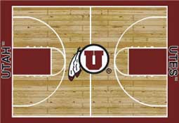University of Utah Basketball Sports Rug