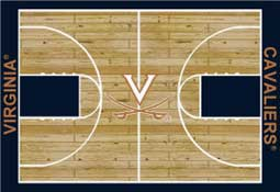 University of Virginia Basketball Sports Rug