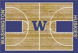 University of Washington Basketball Sports Rug