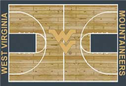 West Virginia University Basketball Sports Rug