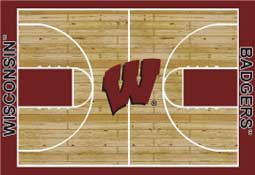 IUniversity of Wisconsin Basketball Sports Rug