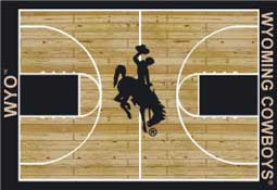 University of Wyoming Basketball Sports Rug