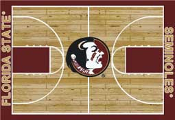 Florida State University Basketball Sports Rug