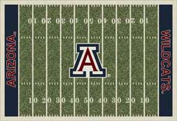 University of Arizona Football Field Sports Rug Wildcats