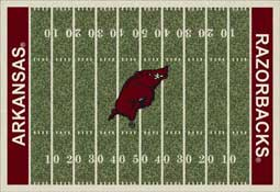 University of Arkansas Fayetteville Football Field Sports Rug Razorbacks