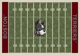 Boston University Terriers Collegiant Football Field Area Rug