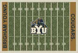 Brigham Young University Cougars Football Field Area Rugs Collegiate Rugs