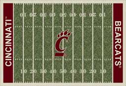 University of Cincinnati Bearcats Football Field Area Rugs Collegiate Rugs
