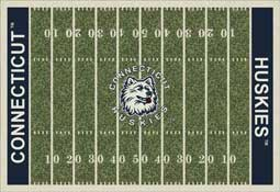 University of Connecticut Huskies Football Field Area Rug