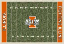 University of Illinois Fighting Illini Collegiate Rugs