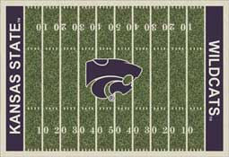 Kansas State University Wildcats Football Field Area Rug