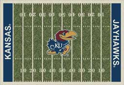 University of Kansas Jayhawks Football Field Area Rug