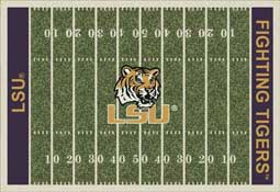 Louisiana State University Tigers Football Field Area Rug