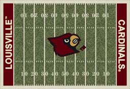 University of Louisville Cardinals Football Field Area Rug