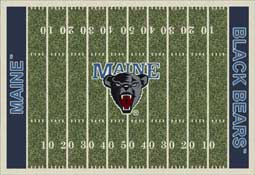 University of Maine Black Bears Football Field Area Rug