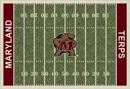 University of Maryland Terrapins Football Field Area Rug
