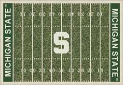 Michigan State University Spartans Football Field Area Rug