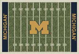 University of Michigan Wolverines Football Field Area Rug